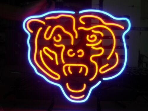 CHICAGO BEARS REAL NEON BEER SIGN PUB BAR GAMESROOM NEON LIGHT SIGN in Collectibles, Breweriana, Beer, Signs, Tins | eBay