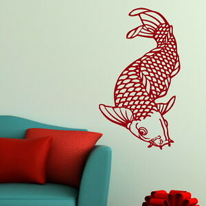 Chinese koi carp fish nice new wall decal sticker transfer for Koi fish wall stickers