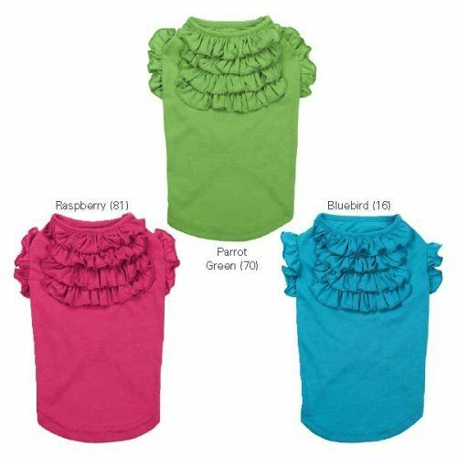 CHOOSE COLOR & SIZE - East Side Collection - TIERED RUFFLE DOG TEE SHIRT in Pet Supplies, Dog Supplies, Apparel | eBay