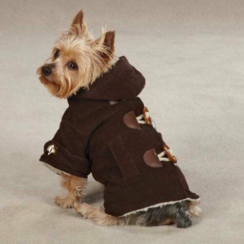 CHOOSE SIZE - East Side Collect. - CORDUROY TOGGLE - DOG COAT JACKET - CHOCOLATE in Pet Supplies, Dog Supplies, Apparel | eBay