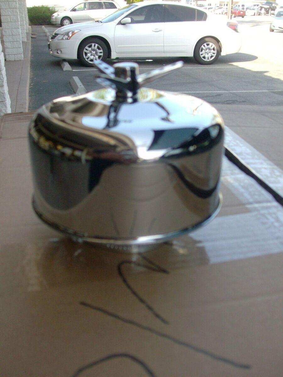 Built Rat Rod Air Cleaner : Chrome air cleaner stromberg ford mercury hot rods