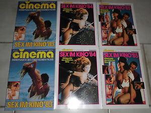 CINEMA-Film-Sonderbaende-Nr-7-9-10-SEX-EROTIK-im-KINO-1983-1985-ovp