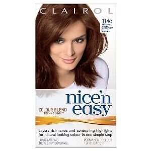 CLAIROL NICE N EASY HAIR COLOUR 114C CHESTNUT BROWN | eBay