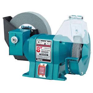 Clarke Metalwork Bench Grinder 8 Inch Wet 6 Inch Dry Ebay