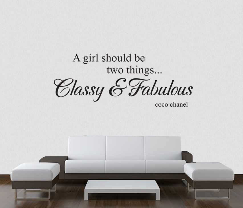 Coco Chanel Quotes Wall Decals