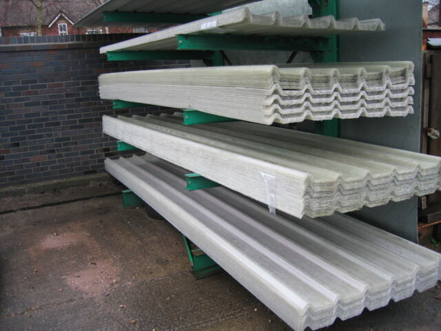 Box profile grp fibreglass clear roof lights rooflights for T g roofing