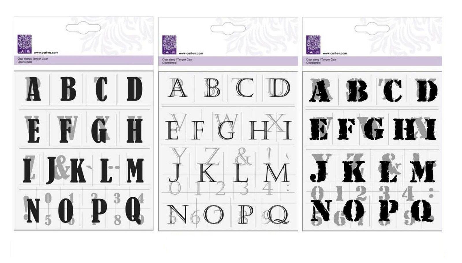clear stamps silikon stempel kars cart us alphabet buchstaben zahlen ebay. Black Bedroom Furniture Sets. Home Design Ideas