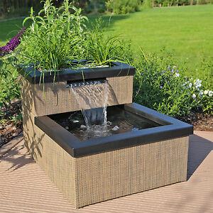 clgarden mini teich wasserfall set mtws1 f r balkon terrasse innen au en garten ebay. Black Bedroom Furniture Sets. Home Design Ideas