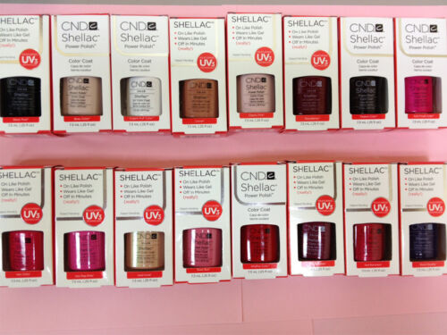CND NEW Shellac UV Gel Polish ALL COLORS .25 oz 7.3 ml GENUINE in Health & Beauty, Nail Care & Polish, Acrylic Nails & Tips | eBay