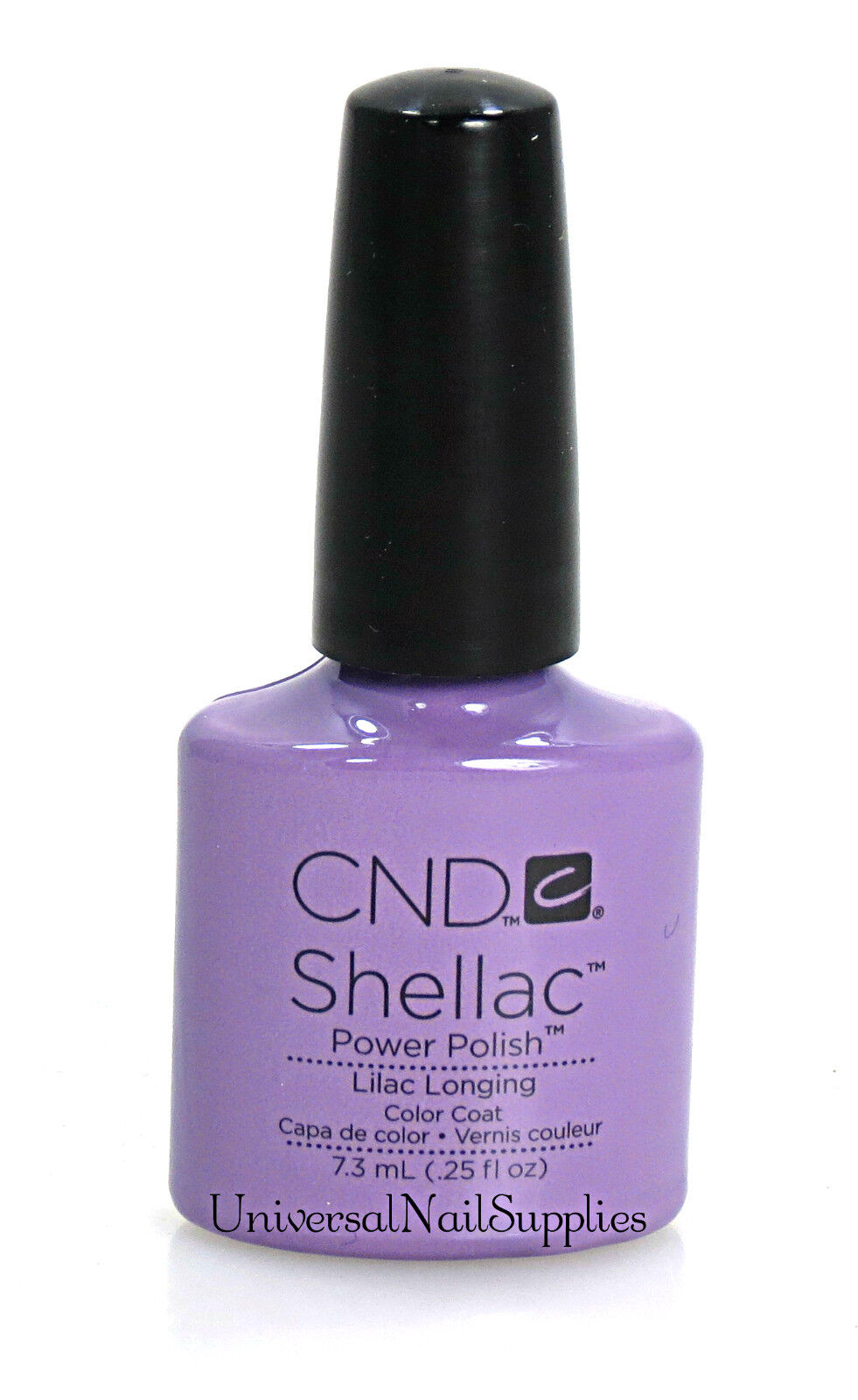 cnd shellac uv gel nail polish from sweet dreams set lilac longing 25 oz ebay. Black Bedroom Furniture Sets. Home Design Ideas