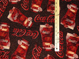 Coca Cola Fabric By The Yard http://www.ebay.com/itm/COKE-Coca-Cola-Soda-Pop-Bottle-Tapestry-Fabric-by-the-Yard-BTY-/360571532012