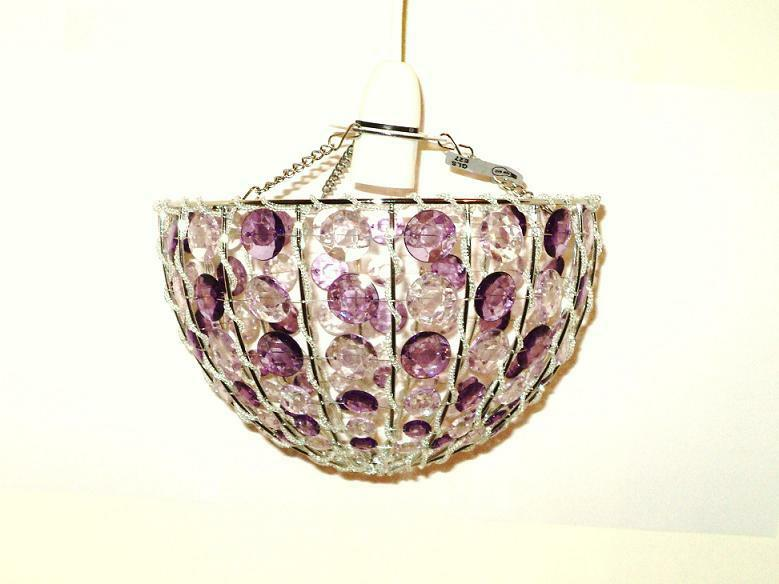 colours suspension charlys mauve purple beaded ceiling