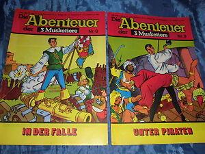 COMICS-Die-Abenteuer-der-3-Musketiere-Nr-8-9-Verl-Arotal-Schweiz-1977