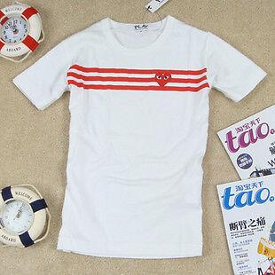 Comme Des Garcons CDG Play Heart Mens T Shirt White Sz s M L
