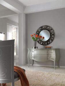 Como 39 bombato consolle con specchio grigio ingresso vari colori misura maxi ebay - Consolle con specchio per ingresso ...