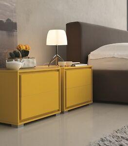 Comodini camera da letto laccato opaco af cielo l51 design - Comodini di design ...