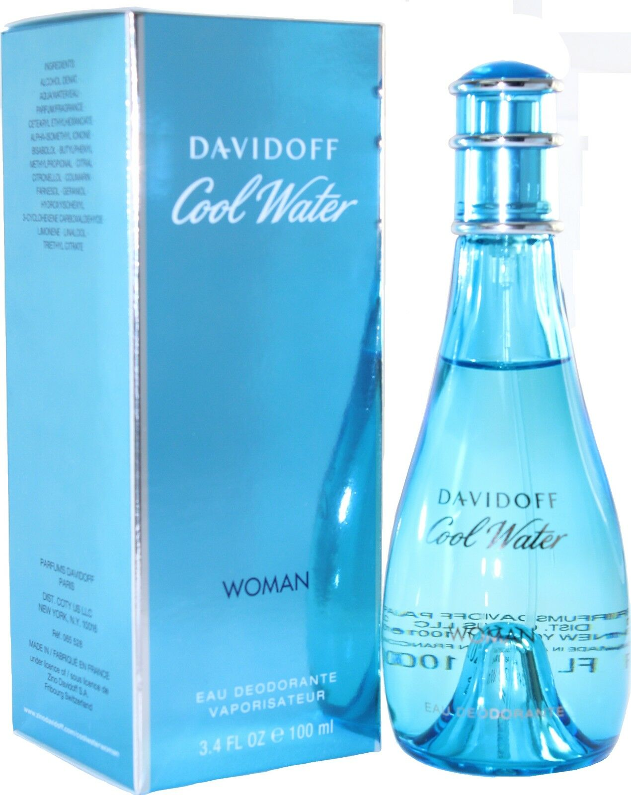 cool water by davidoff 3 3 3 4oz deo spray for women new. Black Bedroom Furniture Sets. Home Design Ideas