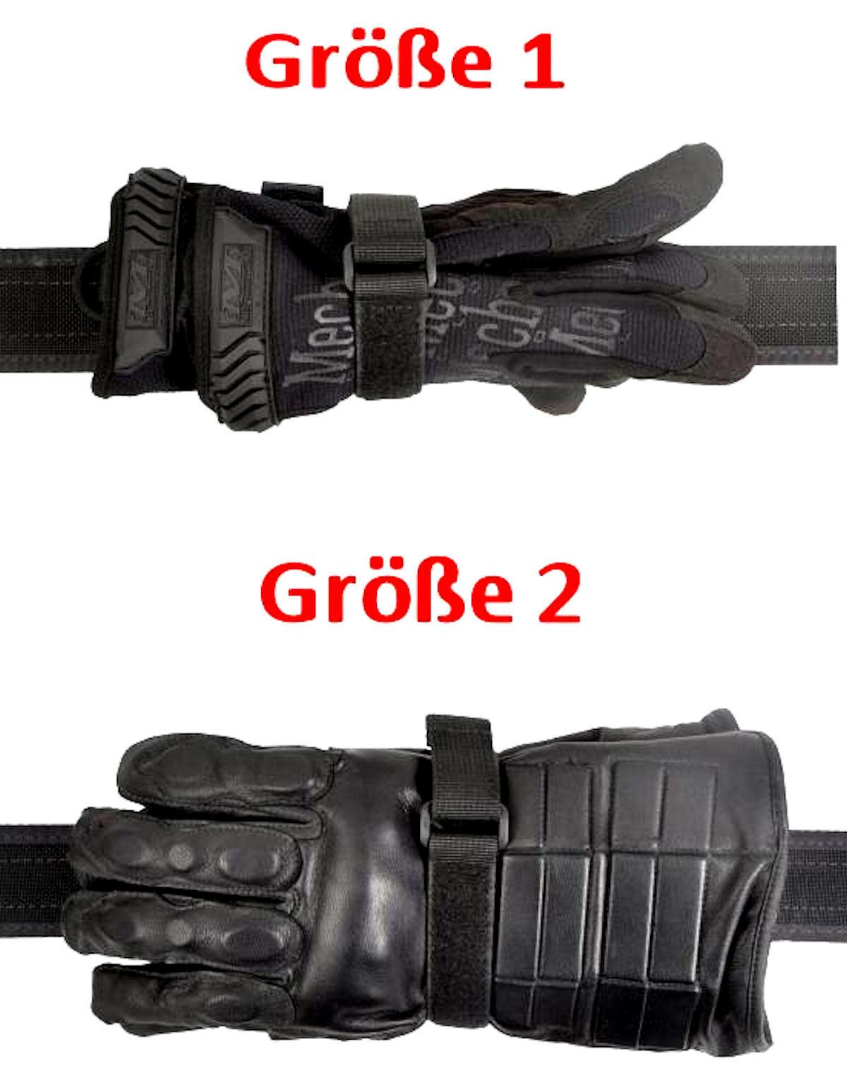 COP Polizei Security Handschuhhalter variabel Halter Gürtelhalter für Handschuhe