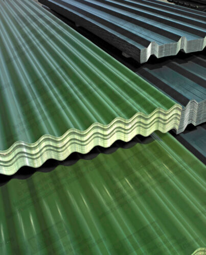 Corrugated Roofing Sheets Galvanised Steel Juniper Green