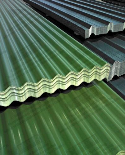 Corrugated Roofing Sheets Galvanised Steel Juniper Green