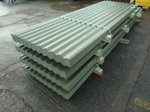 Corrugated Roofing Sheets Olive Green Pvc Ebay
