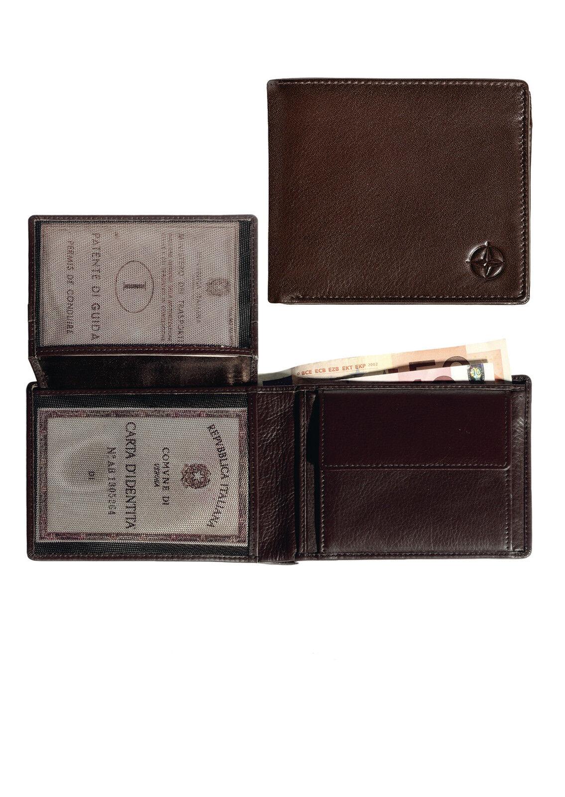 TONY PEROTTI Damen Geldbörse 20 x 10,5 cm in Schwarz echtes Italienisches Leder