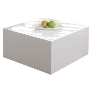 couchtisch wohnzimmertisch tisch kubus quadratisch 60x60 cm hochglanz weiss ebay. Black Bedroom Furniture Sets. Home Design Ideas