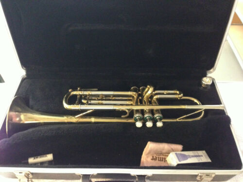 COUESNON PARIS MADE IN FRANCE TRUMPET WITH BLESSING 1-1/2 C MOUTHPIECE - AWESOME in Musical Instruments & Gear, Brass, Trumpet & Cornet | eBay