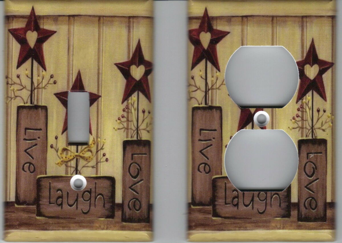 Country Live Love Laugh Home Decor Outlet And Light Switch