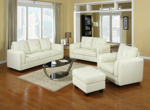 CREAM BONDED LEATHER SOFA LOVE SEAT & CHAIR LIVING ROOM FURNITURE SET in Home & Garden, Furniture, Sofas, Loveseats & Chaises | eBay