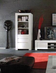 Credenza madia vetrina moderna laccata bianco lucido soggiorno ebay - Vetrina soggiorno moderna ...