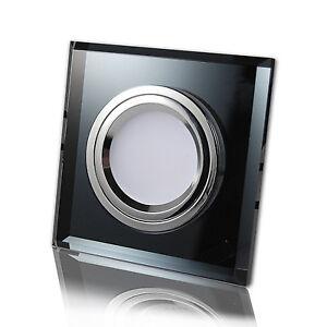 cristal 230v led smd 7w 8w einbaustrahler einbauspots deckenstrahler glas ebay. Black Bedroom Furniture Sets. Home Design Ideas