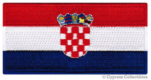 CROATIA-NATIONAL-FLAG-PATCH-CROATIAN-iron-on-EMBROIDERED-SOUVENIR-APPLIQUE