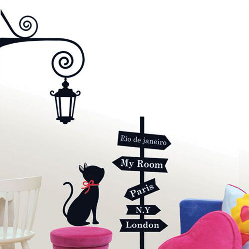 CROSS ROAD & CAT Adhesive Removable Wall Home Decor Accents Stickers Decals in Home & Garden, Home Decor, Decals, Stickers & Vinyl Art | eBay