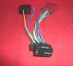 ct21so02 sony 16 pin iso new style wiring harness lead cable adapter cdx gt270mp ebay