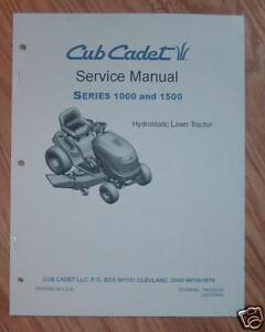 cub cadet lt1018 lt1022 lt1024 lt1042 service manual ebay cub cadet ...