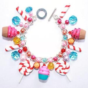 CUPCAKE LOLLIPOP SWEETS CANDY COSTUME CHARM PERRY HARAJUKA KATY NOVELTY BRACELET | eBay