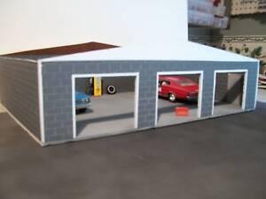 Custom Built 3 Car Garage for 1 24 Scale Diecast