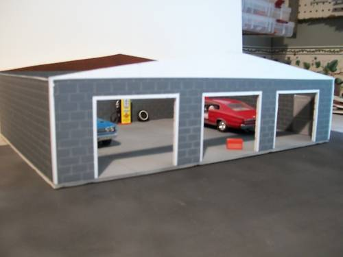 Custom Built 3 Car Garage for 1 24 Scale Diecast