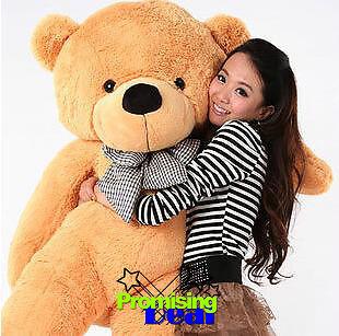 "CUTE GIANT 63"" TEDDY BEAR HUGE SOFT STUFFED BIG PLUSH in Dolls & Bears, Bears, Other | eBay"