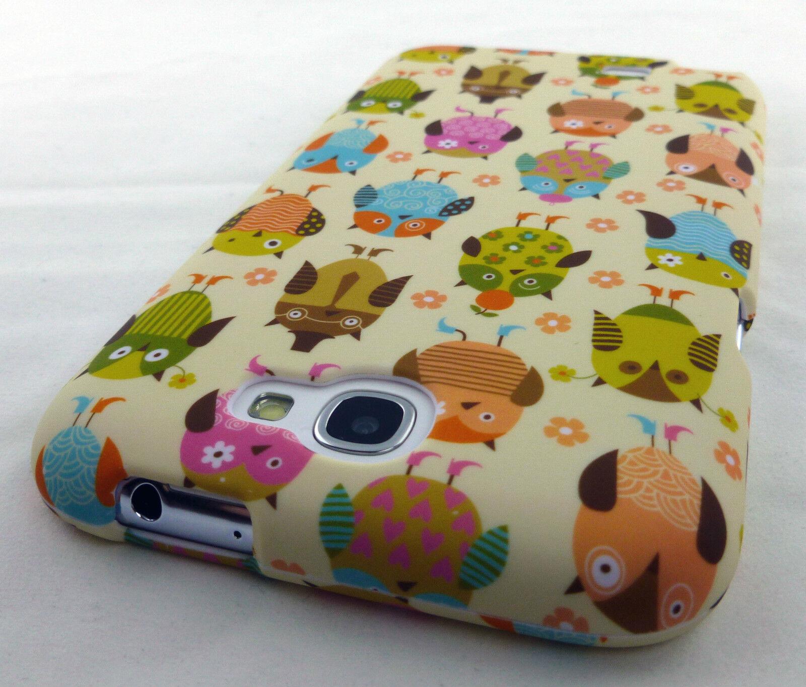 CUTE ODDBALL OWL PATTERN HARD SNAP-ON CASE COVER SAMSUNG GALAXY NOTE II 2 PHONE