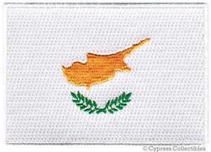 CYPRUS-NATIONAL-FLAG-PATCH-CYPRIOT-iron-on-EMBROIDERED-SOUVENIR-APPLIQUE