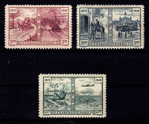 CZECHOSLOVAKIA 1949 - UPU SET SC# 380 - 382 MINT NEVER HINGED - Deutschland - CZECHOSLOVAKIA 1949 - UPU SET SC# 380 - 382 MINT NEVER HINGED - Deutschland