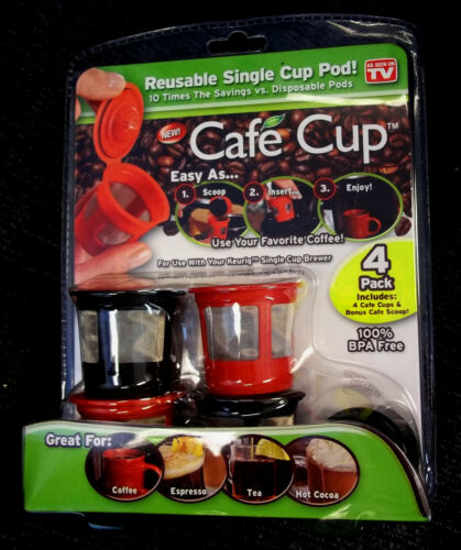 Cafe Cup Reusable Single Serve Coffee Pods KEURIG Reusable K-Cup Filter in Home & Garden, Food & Beverages, Coffee | eBay