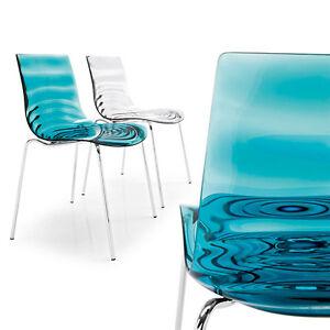 calligaris stuhl l eau leau cs 1273 in vielen varianten lieferbar ebay. Black Bedroom Furniture Sets. Home Design Ideas