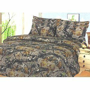 Camo Hunter QUEEN Size 6 Pc. Camouflage Sheet Set New in Zip Bag in Home & Garden, Bedding, Sheets & Pillowcases | eBay