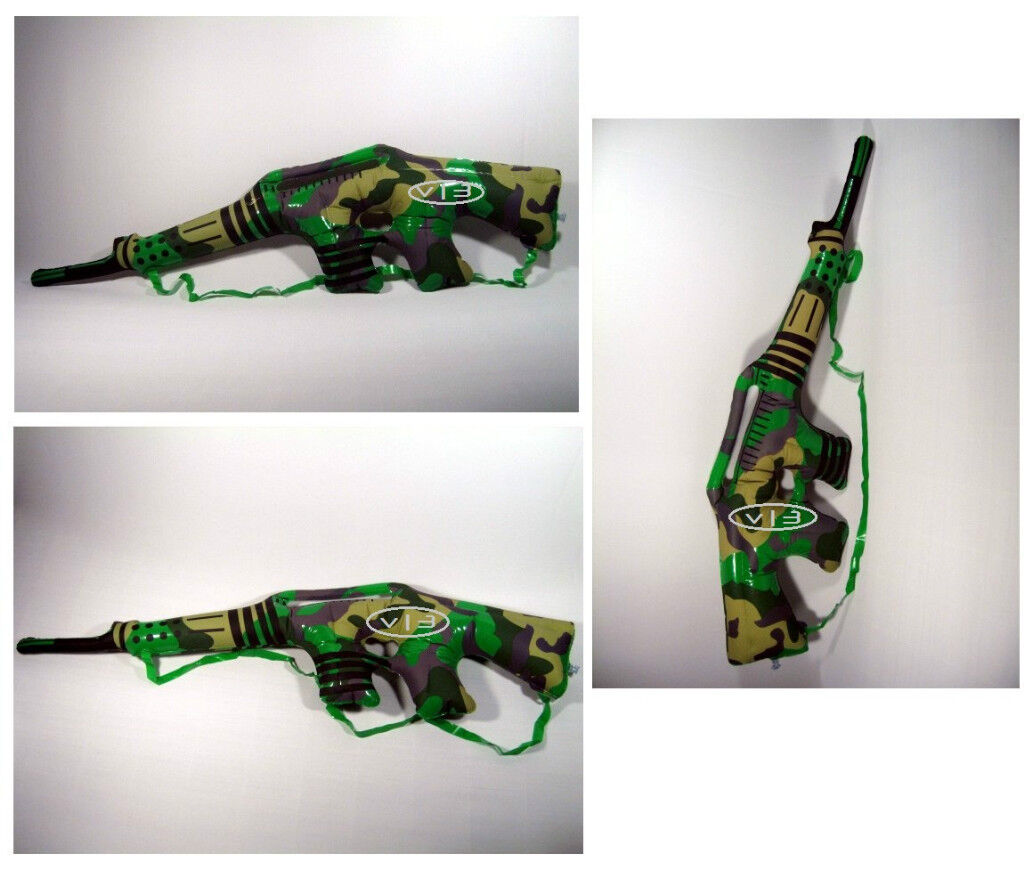 """Camouflage Gun Rifles Weapon Inflatable Blowup Kids Toys Party Favor Decor 36"""""""