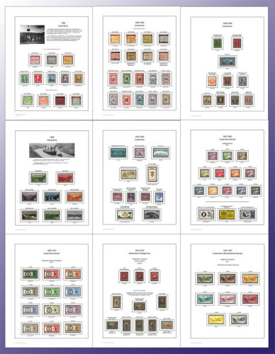 Canal Zone Stamp Album Pages Full Color (US POSSESSIONS) in Stamps, Publications & Supplies, Albums | eBay