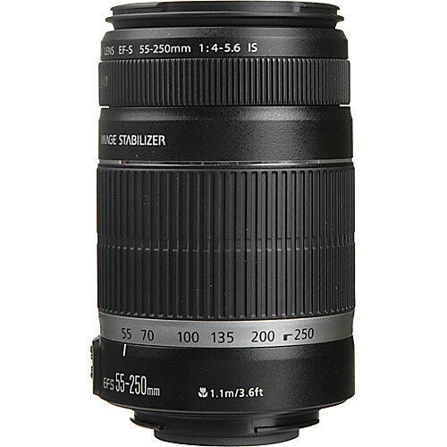 Canon 55-250mm f/4-5.6 IS II EFS Autofocus Lens **NEW** USA MODEL!! in Cameras & Photo, Lenses & Filters, Lenses | eBay