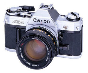 Canon AE-1 35mm SLR Film Camera with FD ...